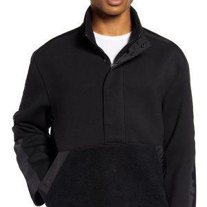 Club Monaco black half zip sweater BNWT Large